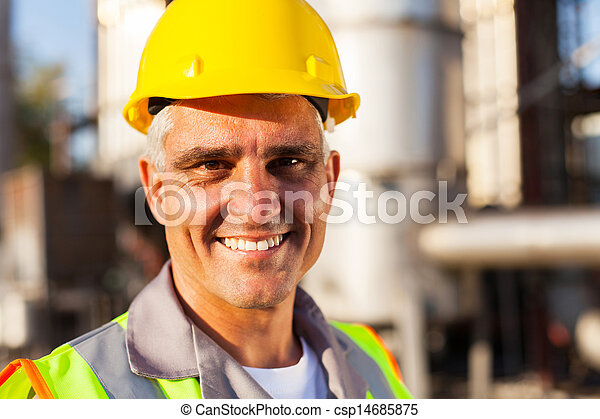 senior oil and chemical worker - csp14685875