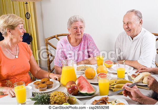 senior people breakfast - csp2659298