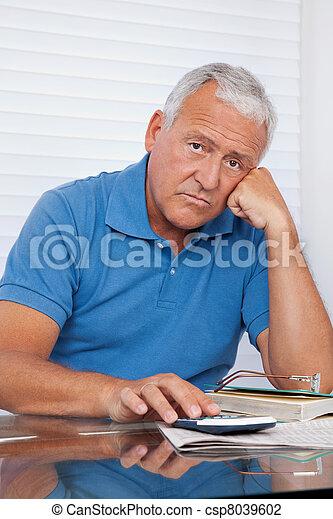 senior, przewrócić, człowiek - csp8039602