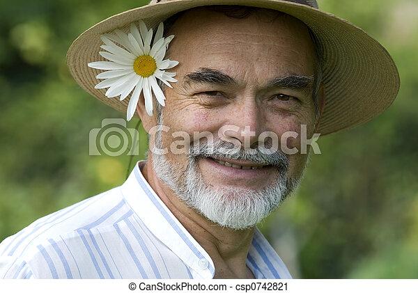 senior smiling - csp0742821