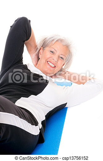 Senior woman at workout - csp13756152