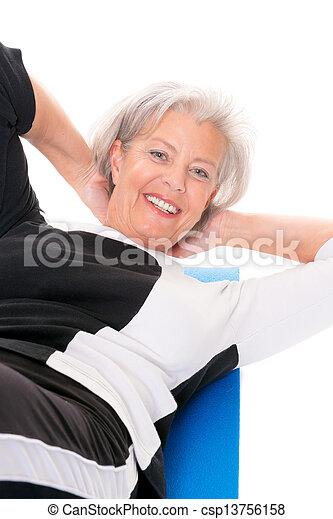 Senior woman at workout - csp13756158