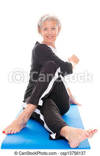 Senior woman at workout - csp13756137