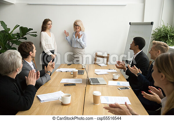 senior senior woman meeting)