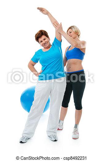Senior woman in gym  - csp8492231