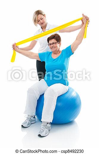 senior woman in gym - csp8492230