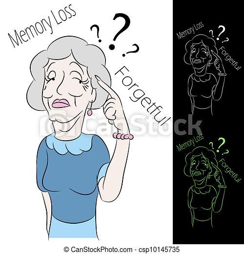 Senior Woman Memory Loss - csp10145735