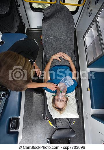 Senior Woman Receiving Emergency Care - csp7703096