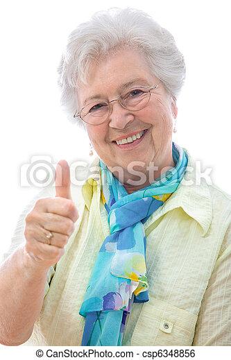 senior woman - csp6348856