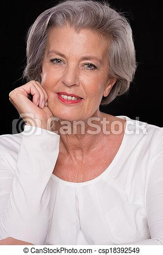 Senior woman - csp18392549