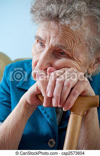 senior woman - csp2573604