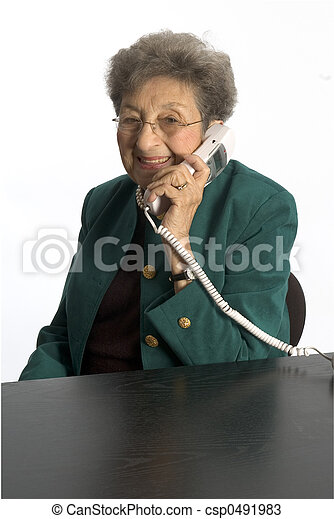 senior woman telephone - csp0491983