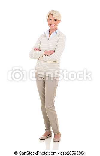 senior woman with arms crossed - csp20598884