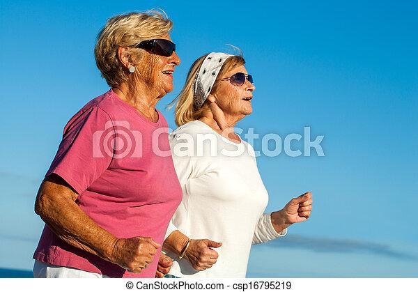 Senior women jogging. - csp16795219