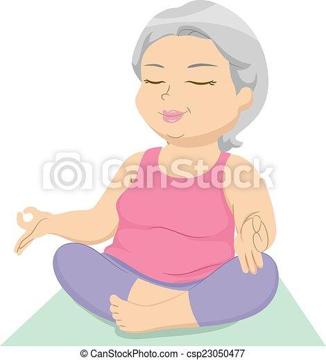 Senior Yoga - csp23050477