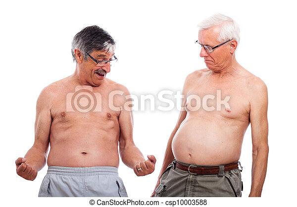 seniores, corporal, comparar, forma - csp10003588