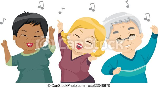seniores, dança, partido - csp33348670