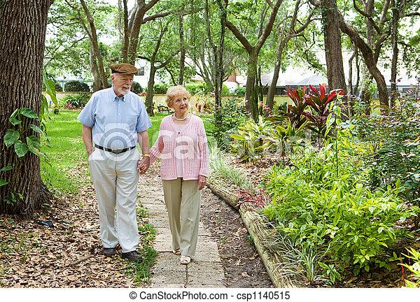 seniores, junto, andar - csp1140515