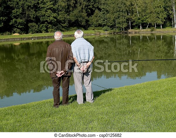 seniors., 祖父母 - csp0125682