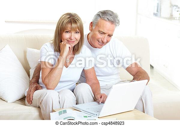 Seniors couple - csp4848923