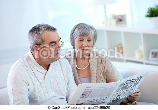 seniors, felolvasás, dolgozat - csp22496520