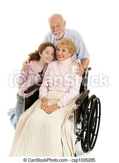 Seniors & Granddaughter - csp1035285