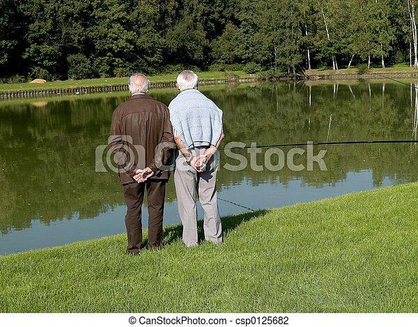 seniors., großeltern - csp0125682