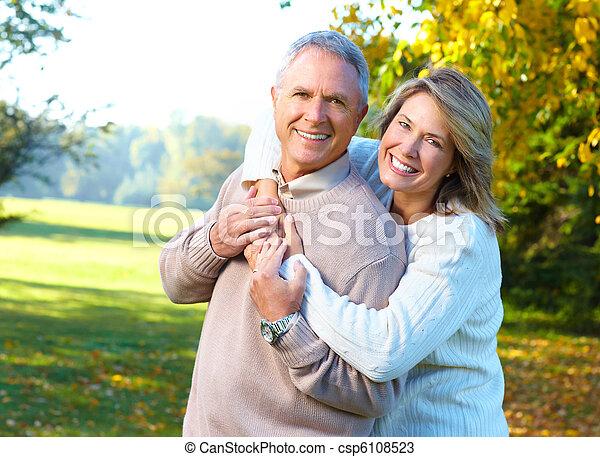 seniors, párosít, öregedő - csp6108523