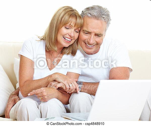 seniors, párosít - csp4848910