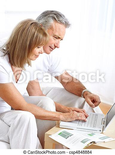 seniors, párosít - csp4848884