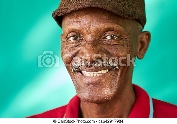 60dc85846 Seniors People Portrait Happy Old Black Man With Hat