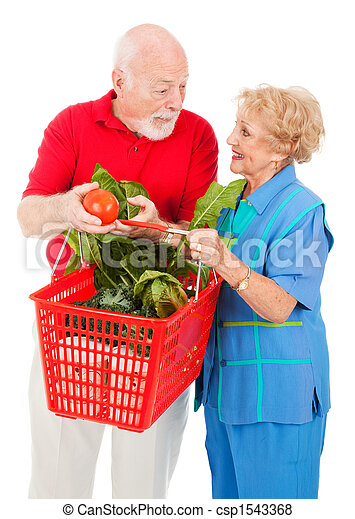 Seniors Shopping Together - csp1543368