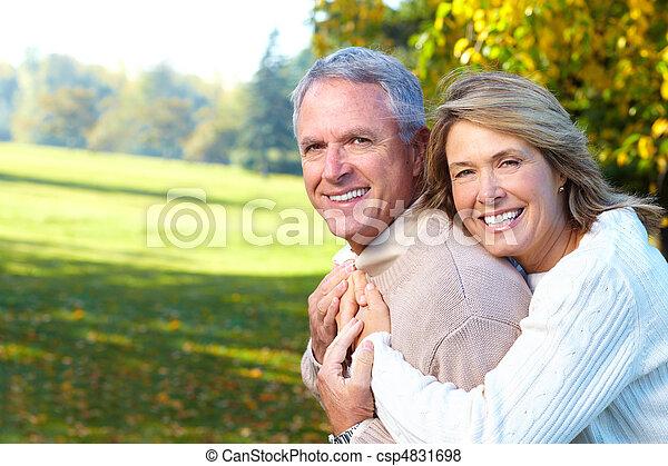 seniorzy, para, starszy - csp4831698