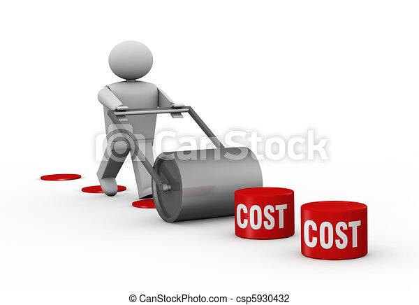 senkung, kosten - csp5930432