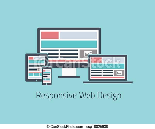 sensibile, disegno web, sviluppo, v - csp18025938