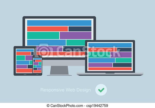 sensible, plano, diseño, dispositivo, tela - csp19442759