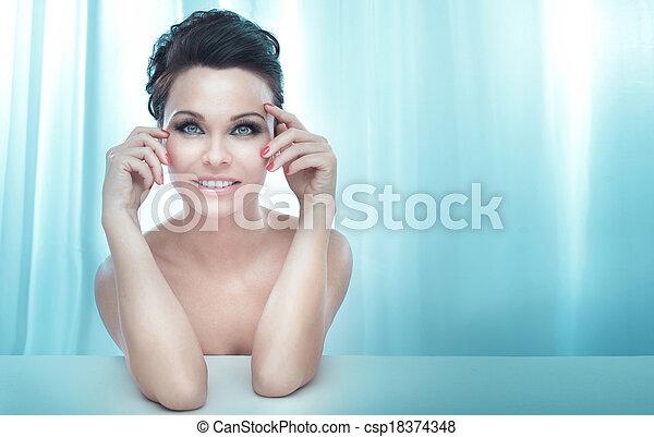 sensuelles, portrait, lady., joli, beauté - csp18374348