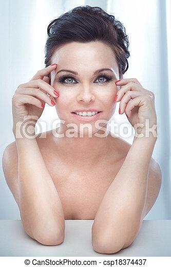sensuelles, portrait, lady., joli, beauté - csp18374437