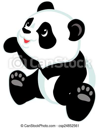Un panda de dibujos animados - csp24852561