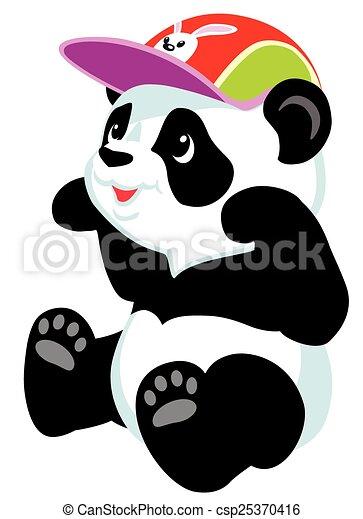 Un panda de dibujos animados - csp25370416