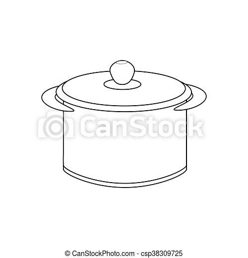 sentier, casserole, illustration - csp38309725