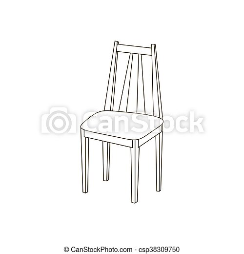 sentier, chaise, illustration, cuisine - csp38309750