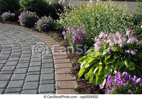 sentier, jardin - csp0024932