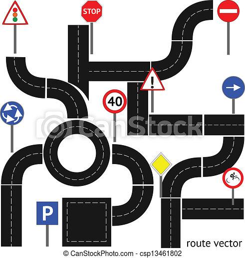 sentier, panneaux signalisations - csp13461802
