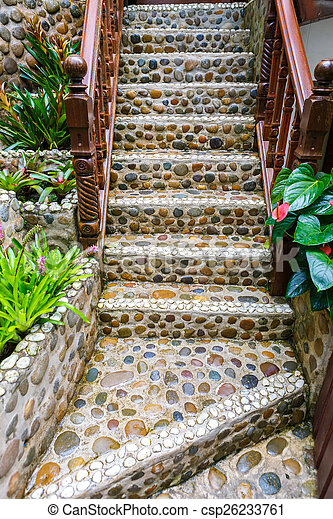 Sentier, pierre, escalier, jardin image de stock - Recherchez ...