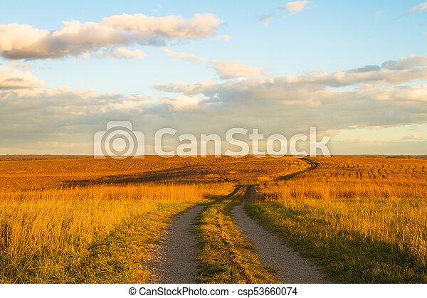 sentier, prairie, wah'kon-tah - csp53660074