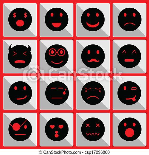 Sentir iconos faciales en el botón - csp17236860