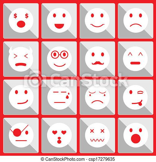 Sentir iconos faciales en el botón - csp17279635