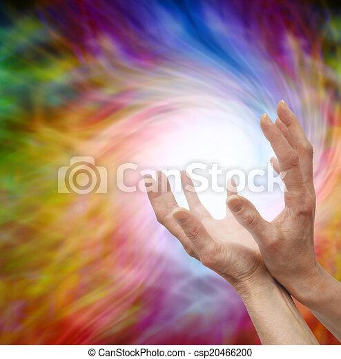 sentir, guérison, énergie, lointain - csp20466200