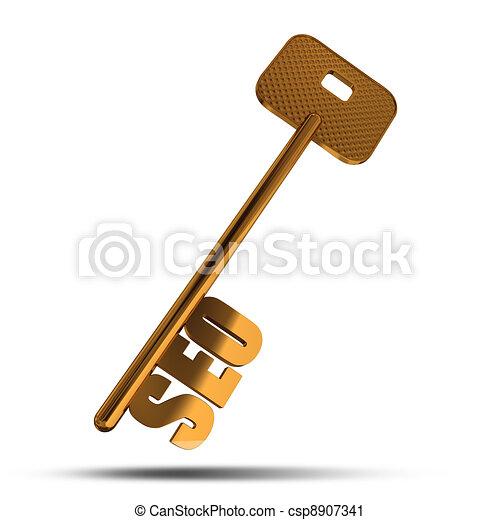 SEO gold key - csp8907341